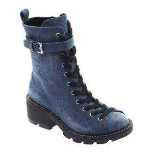 Kendall & Kylie Denim Blue Combat Boots